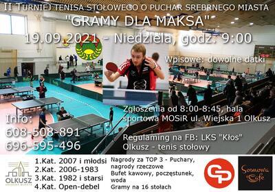II Turniej Tenisa Stołowego o Puchar Srebrnego Miasta -